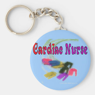 Cardiac Nurse Watercolor Art Gifts Keychain