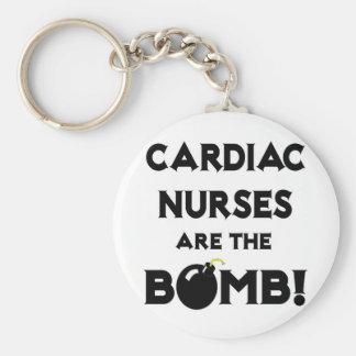 Cardiac Nurses Are The Bomb! Basic Round Button Key Ring