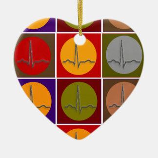 Cardiac QRS Pop Art Christmas Ornament