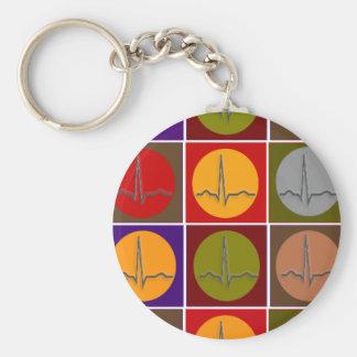 Cardiac QRS Pop Art Keychains