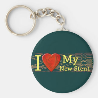 Cardiac Recovery Gifts | Stent T-shirts Basic Round Button Key Ring