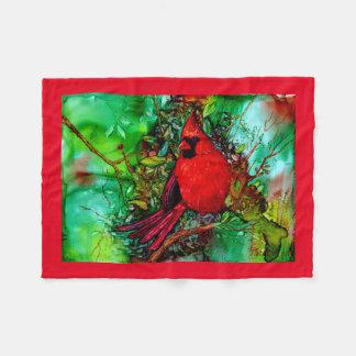 Cardianl In the Tree Fleece Blanket