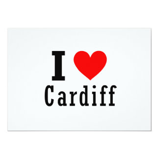 Cardiff, Alabama City Design 13 Cm X 18 Cm Invitation Card