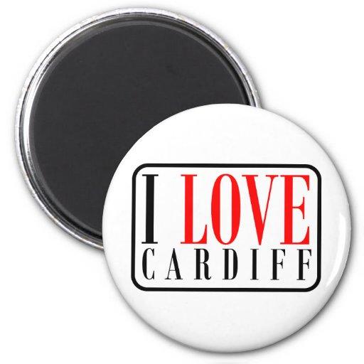 Cardiff, Alabama City Design Fridge Magnet