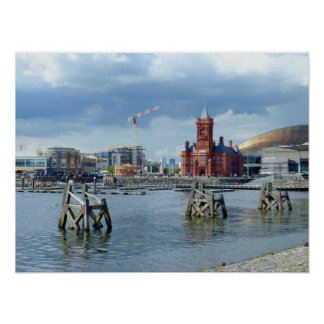 Cardiff Bay, Cardiff, Wales Poster