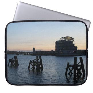Cardiff Bay Sunset Laptop Sleeve