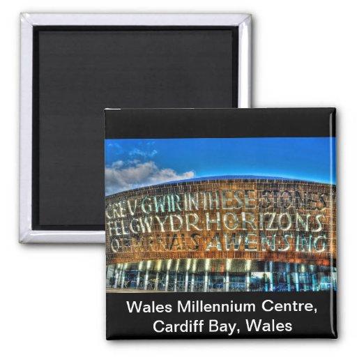 Cardiff Bay Wales Millennium Centre, Britain Arts Fridge Magnet