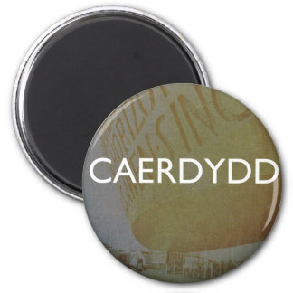 Cardiff - Caerdydd 6 Cm Round Magnet
