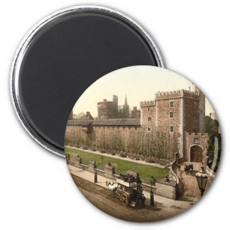 Cardiff Castle I, Cardiff, Wales 6 Cm Round Magnet