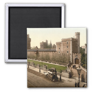 Cardiff Castle I, Cardiff, Wales Square Magnet