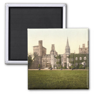 Cardiff Castle II, Cardiff, Wales Square Magnet