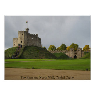 Cardiff Castle, Wales Poster