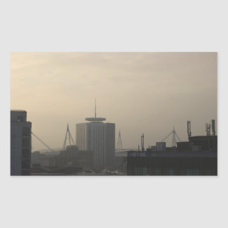 Cardiff City Skyline Rectangular Sticker