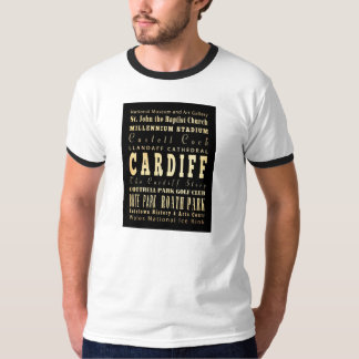Cardiff City United Kingdom Typography Art T-Shirt