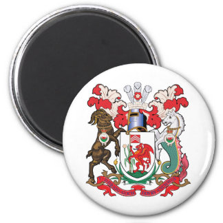 Cardiff Coat of Arms 6 Cm Round Magnet