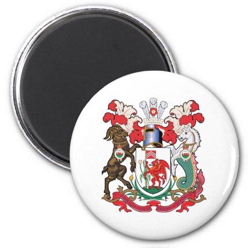 Cardiff Coat of Arms Fridge Magnet