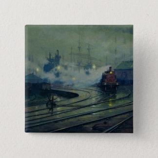 Cardiff Docks, 1896 15 Cm Square Badge