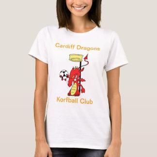 Cardiff Dragon Korfball Club T-shirt White Female