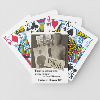 Cardiff Giant w/David Hannum Quote Playing Cards