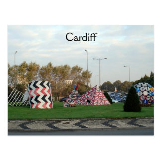 Cardiff Roundabout Postcard