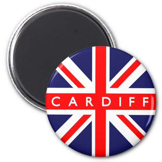 Cardiff UK Flag 6 Cm Round Magnet