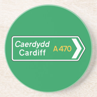 Cardiff, UK Road Sign Coaster