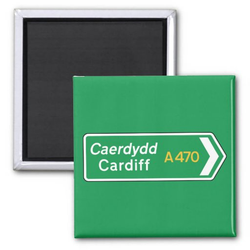 Cardiff, UK Road Sign Magnets