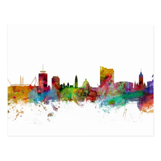 Cardiff Wales Skyline Postcard