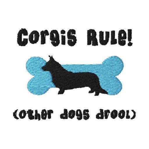 Cardigan Corgis Rule Embroidered Shirt (T-Shirt)