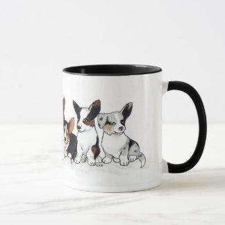 Cardigan Puppy Rainbow Mug