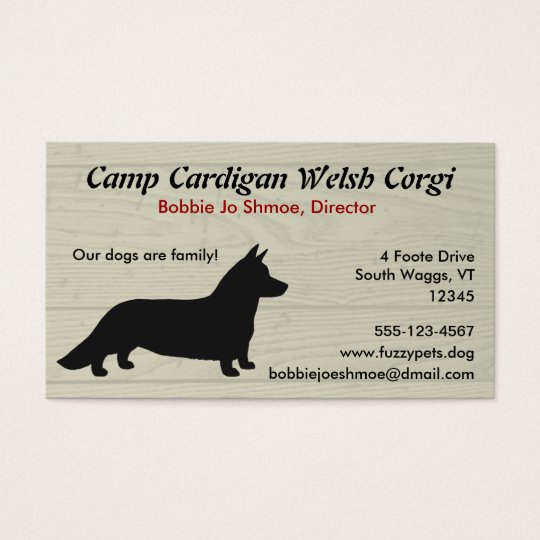 Cardigan Welsh Corgi Business Card
