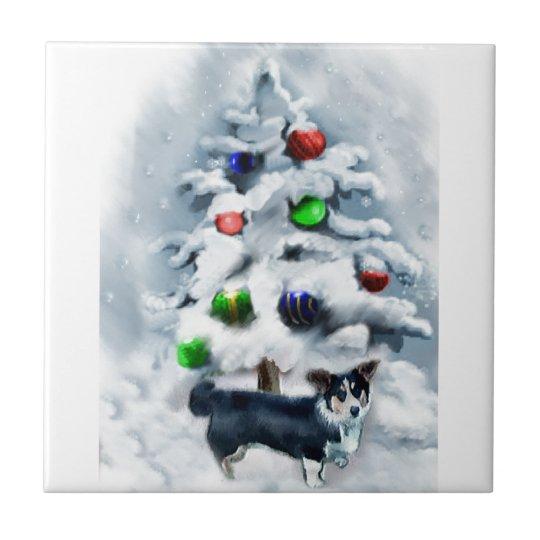 Cardigan Welsh Corgi Christmas Gifts Tile