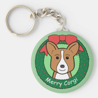 Cardigan Welsh Corgi Christmas Key Ring