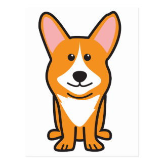 Cardigan Welsh Corgi Dog Cartoon Postcard