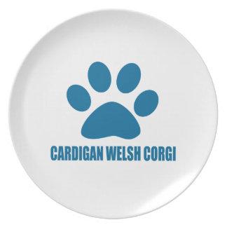 CARDIGAN WELSH CORGI DOG DESIGNS PLATE