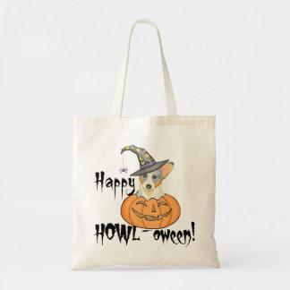 Cardigan Welsh Corgi Halloween Tote Bag
