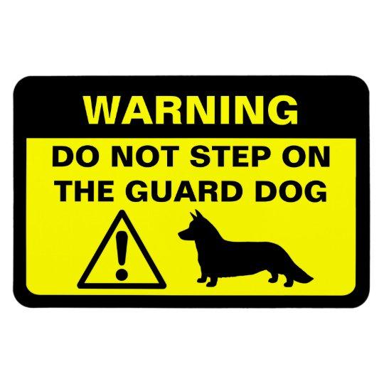 Cardigan Welsh Corgi Humourous Guard Dog Warning Magnet