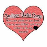 Cardigan Welsh Corgi Paw Prints Dog Humour
