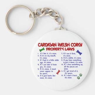 CARDIGAN WELSH CORGI Property Laws 2 Key Ring