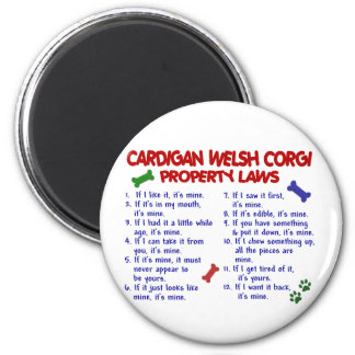 CARDIGAN WELSH CORGI Property Laws 2 Magnet