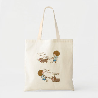 cardigan welsh corgi quickly quick! tote bag