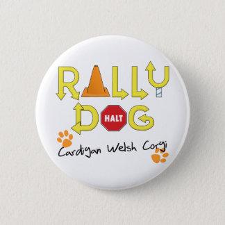 Cardigan Welsh Corgi Rally Dog 6 Cm Round Badge