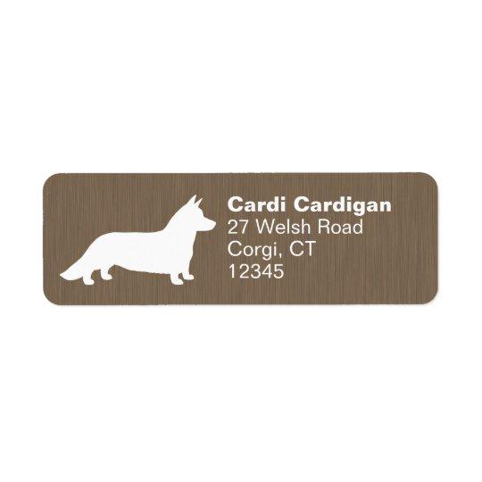 Cardigan Welsh Corgi Silhouette Return Address Label