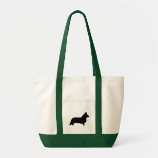 Cardigan Welsh Corgi Silhouette Tote Bag