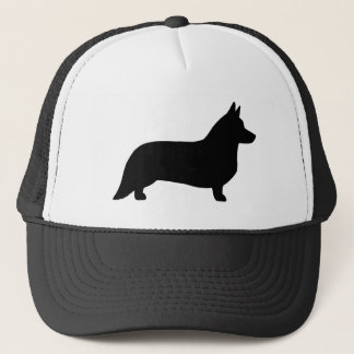 Cardigan Welsh Corgi Silhouette Trucker Hat