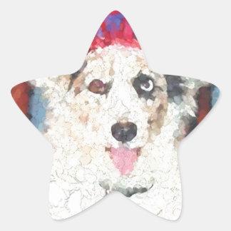 Cardigan Welsh Corgi Star Sticker