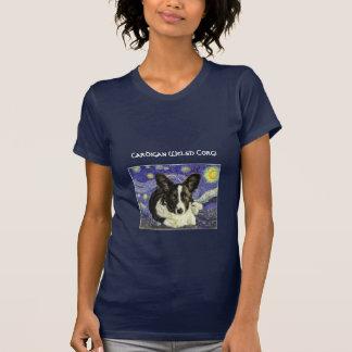 Cardigan Welsh Corgi Van Gogh Starry Night T-Shirt