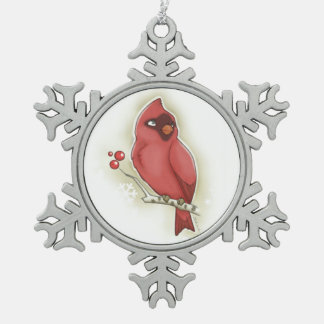 Cardinal and cranberry Ornament