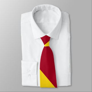 Cardinal and Gold Broad University Stripe Tie