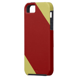 Cardinal and Gold Striped Tough iPhone 5 Case